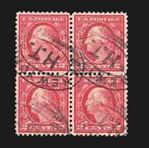 Sale Number 829, Lot Number 1019, 1912-23 Washington-Franklin Issues (Scott 527-547)2c Carmine Rose, Ty. III, Rotary (546), 2c Carmine Rose, Ty. III, Rotary (546)