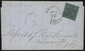 Sale Number 830, Lot Number 786, Union Square Post Office (New York NY)Union Square Post Office, New York N.Y., 1c Black on Dark Green (141L1), Union Square Post Office, New York N.Y., 1c Black on Dark Green (141L1)