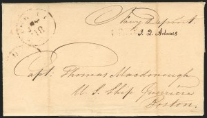 Sale Number 834, Lot Number 10, Presidential Autographs and Free FranksJohn Quincy Adams, John Quincy Adams
