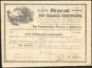 Sale Number 834, Lot Number 103, Civil War Autographs and Historical LettersConfederate Bond, Confederate Bond