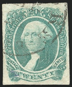 Sale Number 834, Lot Number 1136, General Issues Off Cover (No. 13)20c Green (13), 20c Green (13)