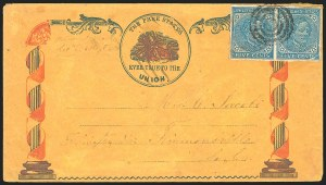 Sale Number 834, Lot Number 1233, General Issues On Cover (Nos. 6-7)5c Blue, Local (7), 5c Blue, Local (7)