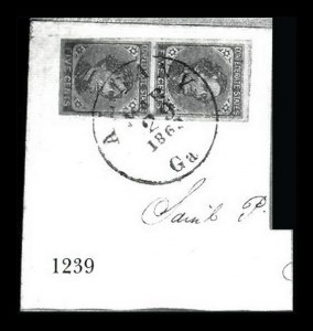 Sale Number 834, Lot Number 1239, General Issues On Cover (Nos. 6-7)5c Blue, Local (7), 5c Blue, Local (7)