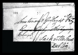"Sale Number 834, Lot Number 124, Postal Markings by State and Territory (D.C. to New Jersey)MICHIGAN. ""Detroit 10th April 1792, MICHIGAN. ""Detroit 10th April 1792"