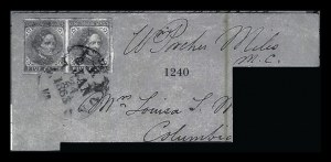 Sale Number 834, Lot Number 1240, General Issues On Cover (Nos. 6-7)5c Blue, Local (7), 5c Blue, Local (7)