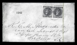 Sale Number 834, Lot Number 1242, General Issues On Cover (Nos. 6-7)5c Blue, Local (7), 5c Blue, Local (7)