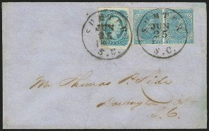 Sale Number 834, Lot Number 1246, General Issues On Cover (Nos. 6-7)5c Blue, Local (7), 5c Blue, Local (7)