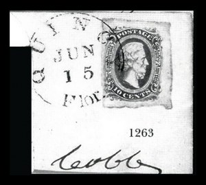Sale Number 834, Lot Number 1263, General Issues On Cover (Nos. 11-12)10c Blue, Die A (11), 10c Blue, Die A (11)