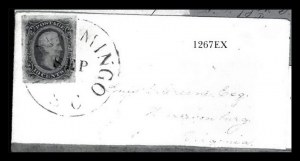 Sale Number 834, Lot Number 1267, General Issues On Cover (Nos. 11-12)10c Blue, Dies A & B (11, 12), 10c Blue, Dies A & B (11, 12)