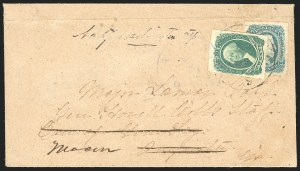 Sale Number 834, Lot Number 1305, General Issues On Cover (No. 13)20c Green (13), 20c Green (13)