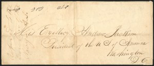Sale Number 834, Lot Number 1308, General Issues On Cover (No. 13)20c Green (13), 20c Green (13)