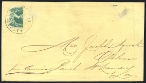 Sale Number 834, Lot Number 1309, General Issues On Cover (No. 13)20c Green, Horizontal Half Used as 10c (13d), 20c Green, Horizontal Half Used as 10c (13d)