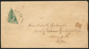 Sale Number 834, Lot Number 1310, General Issues On Cover (No. 13)20c Green, Diagonal Half Used as 10c (13c), 20c Green, Diagonal Half Used as 10c (13c)