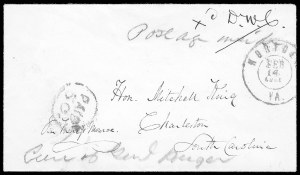 Sale Number 834, Lot Number 1385, Flag-of-Truce MailNorfolk Va. Feb. 14, 1861, Norfolk Va. Feb. 14, 1861