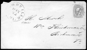 "Sale Number 834, Lot Number 1390, Flag-of-Truce Mail""Examined and Approved, E. G. Parker Lt. Washington"", ""Examined and Approved, E. G. Parker Lt. Washington"""
