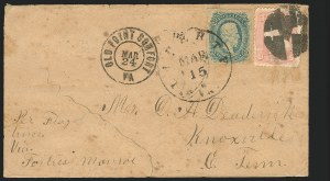 Sale Number 834, Lot Number 1391, Flag-of-Truce MailLiberty Va. Mar. 15 (1865), Liberty Va. Mar. 15 (1865)