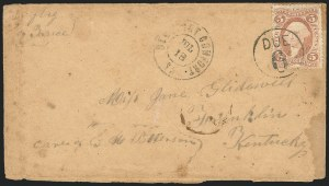 Sale Number 834, Lot Number 1392, Flag-of-Truce Mail5c Inland Exchange, Perforated (R27c), 5c Inland Exchange, Perforated (R27c)