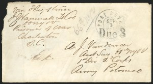 Sale Number 834, Lot Number 1393, Prisoner-of-War Mail from Confederate PrisonsCharleston S.C, Charleston S.C