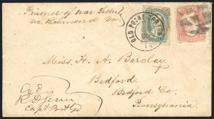 Sale Number 834, Lot Number 1395, Prisoner-of-War Mail from Confederate PrisonsColumbia S.C. (Richland Jail), Columbia S.C. (Richland Jail)