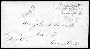 Sale Number 834, Lot Number 1396, Prisoner-of-War Mail from Confederate PrisonsRichmond Va, Richmond Va