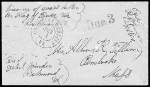 Sale Number 834, Lot Number 1397, Prisoner-of-War Mail from Confederate PrisonsRichmond Va., Richmond Va.