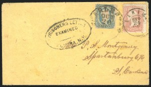 Sale Number 834, Lot Number 1399, Prisoner-of-War Mail from Federal PrisonsElmira N.Y, Elmira N.Y
