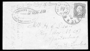 Sale Number 834, Lot Number 1400, Prisoner-of-War Mail from Federal PrisonsFort Delaware, Fort Delaware