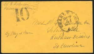 "Sale Number 834, Lot Number 1401, Prisoner-of-War Mail from Federal PrisonsThe Confederate ""600"", The Confederate ""600"""