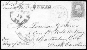 Sale Number 834, Lot Number 1403, Prisoner-of-War Mail from Federal PrisonsJohnson's Island, Johnson's Island