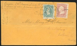 Sale Number 834, Lot Number 1404, Prisoner-of-War Mail from Federal PrisonsJohnson's Island, Johnson's Island