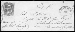 Sale Number 834, Lot Number 1405, Prisoner-of-War Mail from Federal PrisonsJohnson's Island, Johnson's Island
