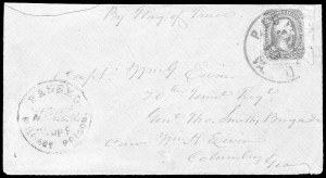 Sale Number 834, Lot Number 1406, Prisoner-of-War Mail from Federal PrisonsOld Capitol Prison, Old Capitol Prison