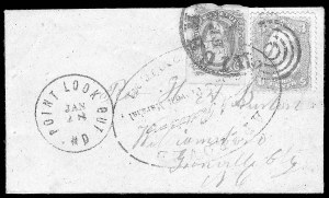 Sale Number 834, Lot Number 1407, Prisoner-of-War Mail from Federal PrisonsPoint Lookout, Point Lookout