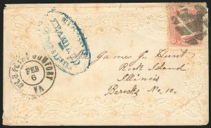 Sale Number 834, Lot Number 1410, Prisoner-of-War Mail from Federal PrisonsRock Island Barracks, Rock Island Barracks