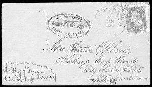 Sale Number 834, Lot Number 1411, Prisoner-of-War Mail from Federal PrisonsRock Island Barracks, Rock Island Barracks