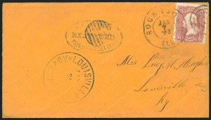 Sale Number 834, Lot Number 1412, Prisoner-of-War Mail from Federal PrisonsRock Island Barracks, Rock Island Barracks