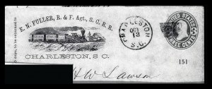 Sale Number 834, Lot Number 151, Postal Markings by State and Territory (Ohio to S.C.)Charleston S.C. Oct. 13, Charleston S.C. Oct. 13