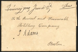 Sale Number 834, Lot Number 2, Presidential Autographs and Free FranksJohn Adams, John Adams