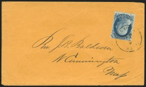 Sale Number 834, Lot Number 290, 1857-60 Issue (1c-3c)1c Blue, Ty. II (20), 1c Blue, Ty. II (20)