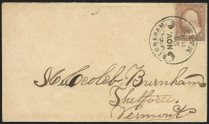 Sale Number 834, Lot Number 304, 1857-60 Issue (1c-3c)3c Dull Red, Ty. IIa (26a), 3c Dull Red, Ty. IIa (26a)