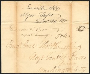 Sale Number 834, Lot Number 32, Presidential Autographs and Free FranksZachary Taylor, Zachary Taylor
