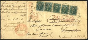 Sale Number 834, Lot Number 323, 1861-66 Issue (62B to 65)10c Dark Green, First Design (62B), 10c Dark Green, First Design (62B)