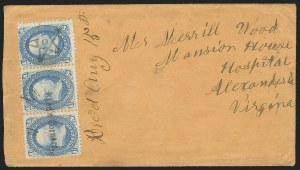 Sale Number 834, Lot Number 324, 1861-66 Issue (62B to 65)1c Blue (63), 1c Blue (63)