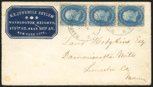 Sale Number 834, Lot Number 326, 1861-66 Issue (62B to 65)1c Blue (63), 1c Blue (63)