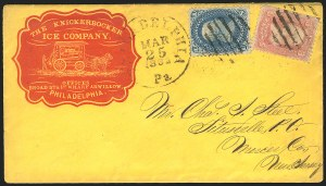 Sale Number 834, Lot Number 327, 1861-66 Issue (62B to 65)1c Blue (63), 1c Blue (63)