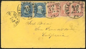 Sale Number 834, Lot Number 329, 1861-66 Issue (62B to 65)1c Blue, 3c Rose (63, 65), 1c Blue, 3c Rose (63, 65)