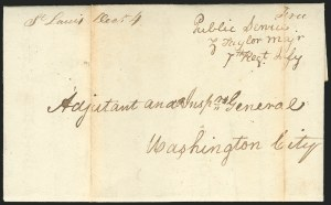 Sale Number 834, Lot Number 33, Presidential Autographs and Free FranksZachary Taylor, Zachary Taylor
