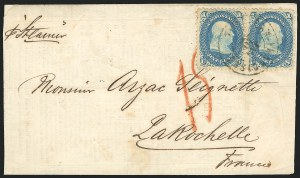 Sale Number 834, Lot Number 336, 1861-66 Issue (62B to 65)1c Blue (63), 1c Blue (63)