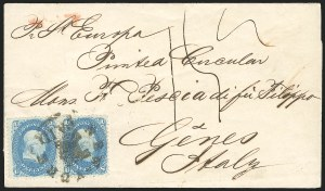 Sale Number 834, Lot Number 337, 1861-66 Issue (62B to 65)1c Blue (63), 1c Blue (63)