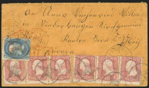 Sale Number 834, Lot Number 340, 1861-66 Issue (62B to 65)3c Rose (65), 3c Rose (65)